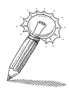 Pencil Light Bulb Idea Concept